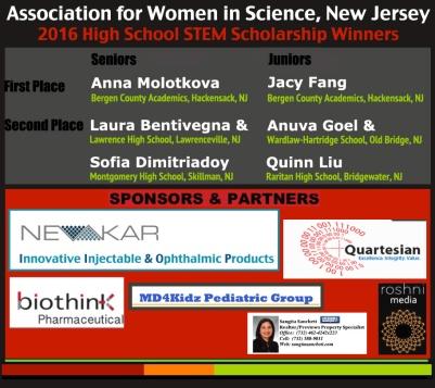 2016FN AWIS-NJ STEM Scholars