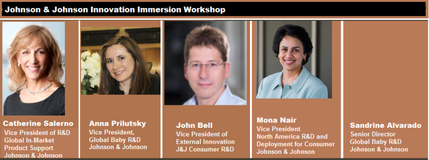 Johnson and Johnson Innovation Immersion Workshop Panel